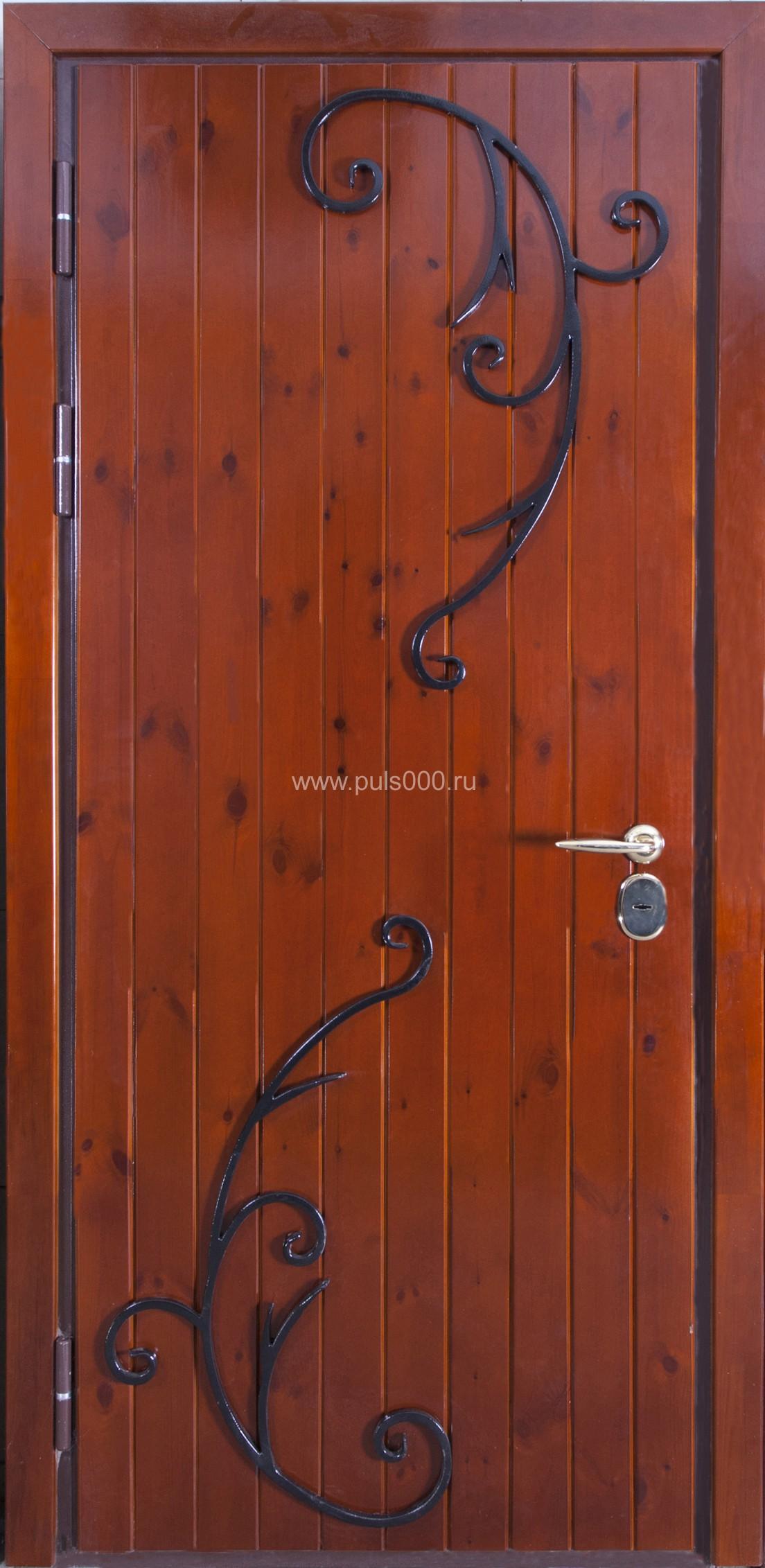 железные двери обиты деревом