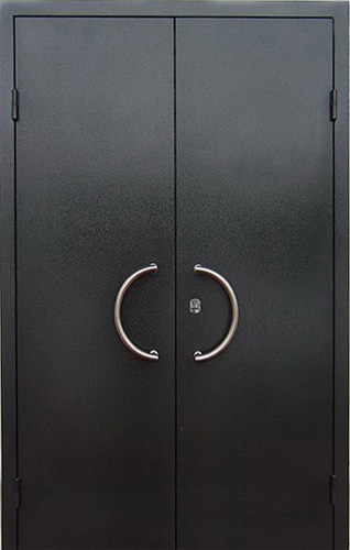 двойные металлические двери антивандальные