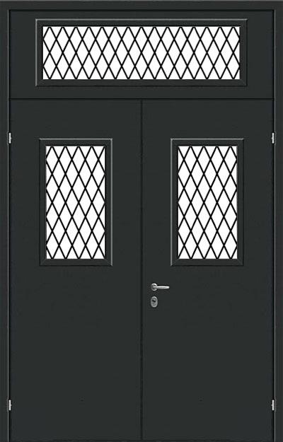 дверь решетка стальная техническая