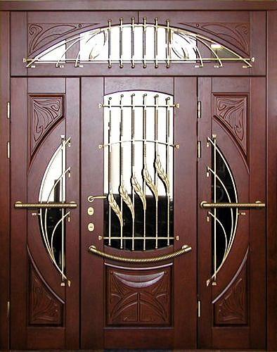 парадные стальные двери со стеклом