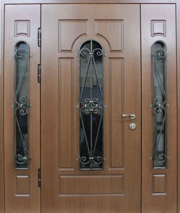 входные двойные двери металлические для коттеджа