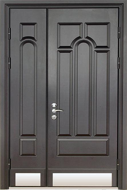 металлические элитные двустворчатые двери
