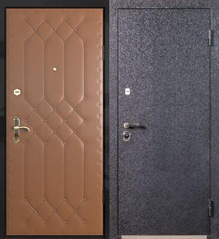 металлические двери эконом класса с установкой дутые