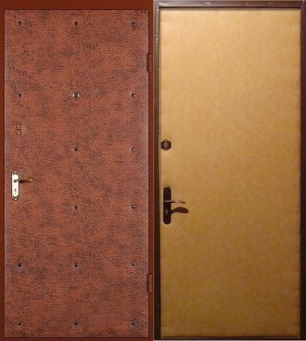 металлические тамбурные двери эконом класса с установкой
