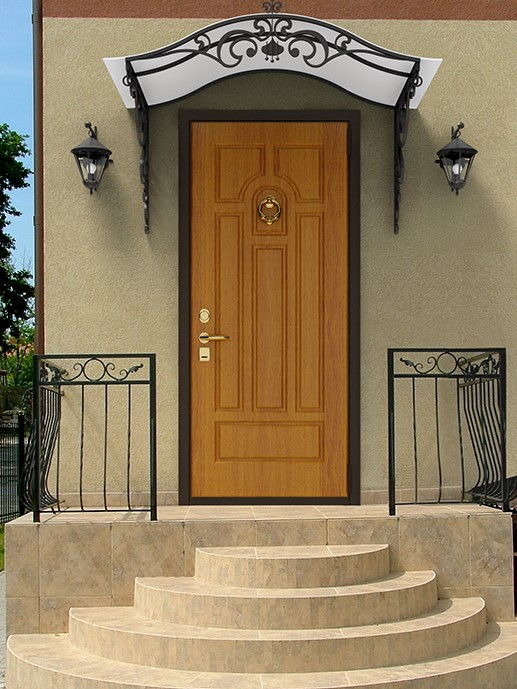 входные металлические двери в частном доме