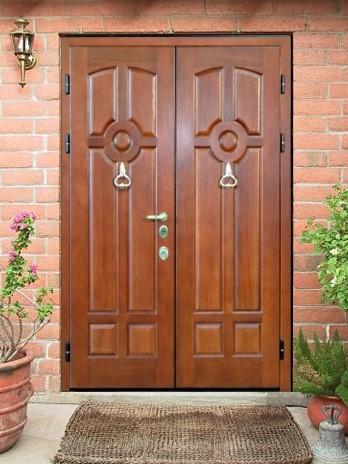 металлические двустворчатые двери в тамбур от производителя