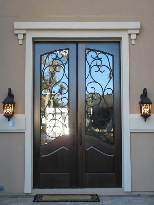 кованые входные двери для частного дома