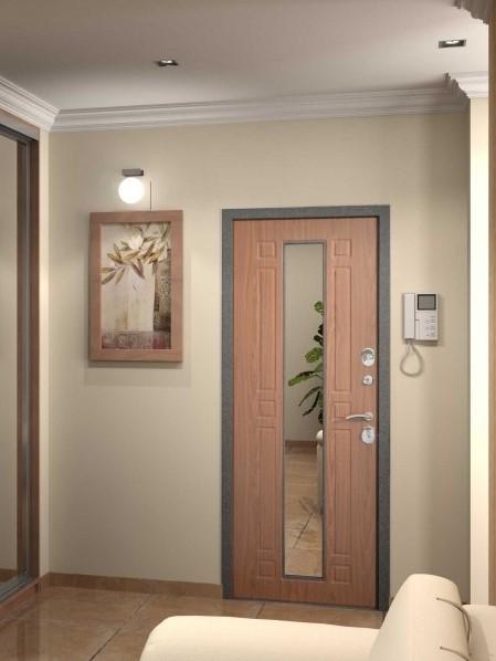 входные двери в квартиру с зеркалом и звукоизоляцией